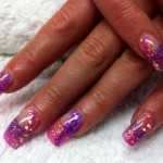 Pink and Purple glitter